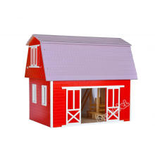 Dollhouse Horse Stable in Wood with Mulitcolor